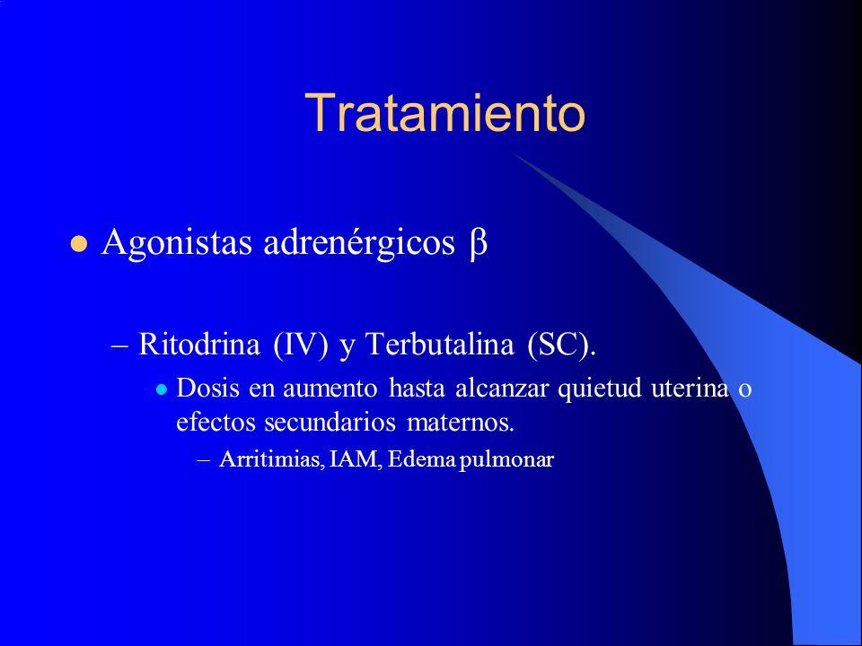 Tratamiento Agonistas adrenérgicos β