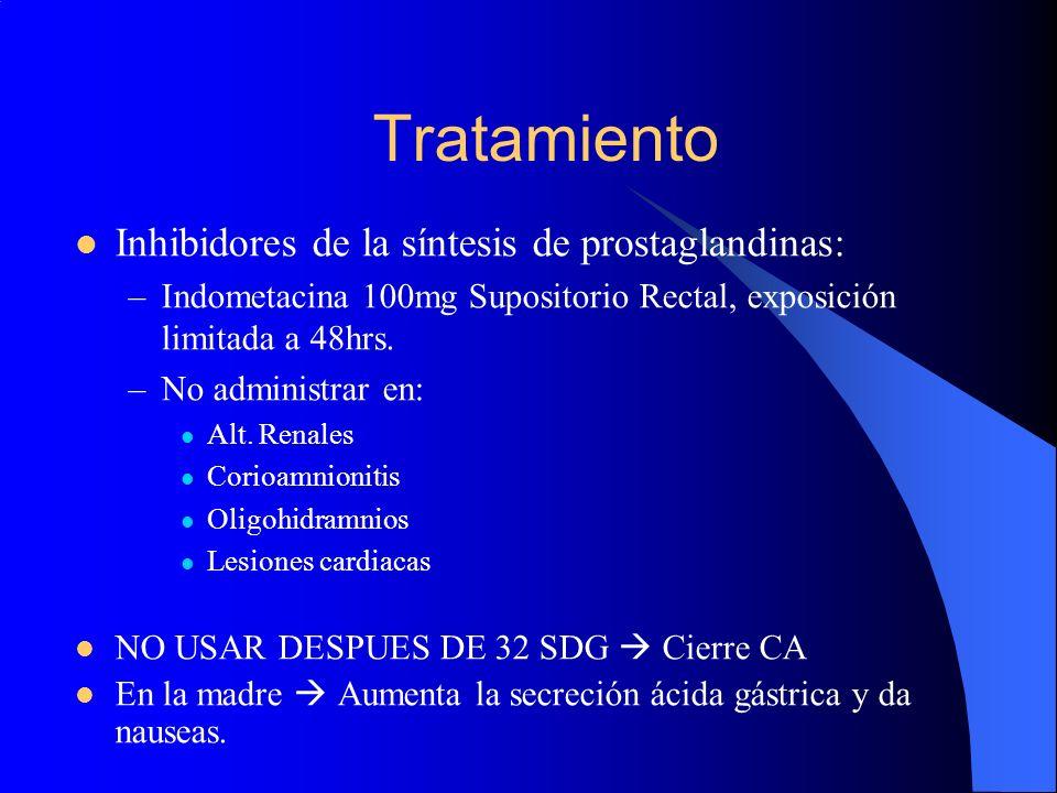 Tratamiento Inhibidores de la síntesis de prostaglandinas: