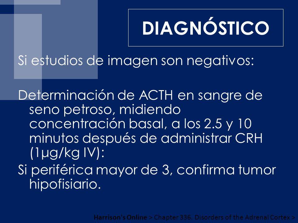 DIAGNÓSTICO Si estudios de imagen son negativos: