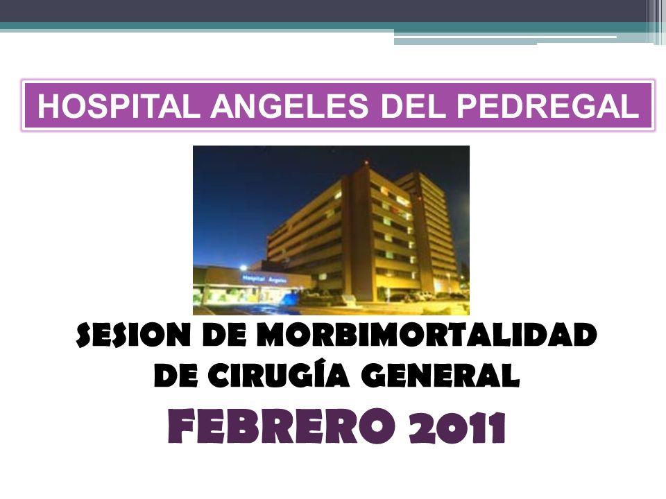 SESION DE MORBIMORTALIDAD DE CIRUGÍA GENERAL FEBRERO 2011