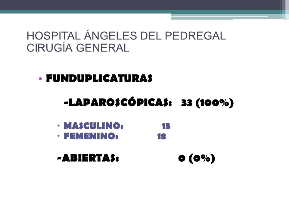 HOSPITAL ÁNGELES DEL PEDREGAL CIRUGÍA GENERAL