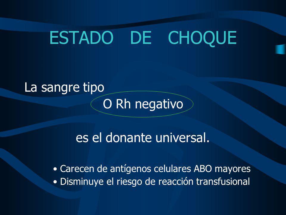 es el donante universal.
