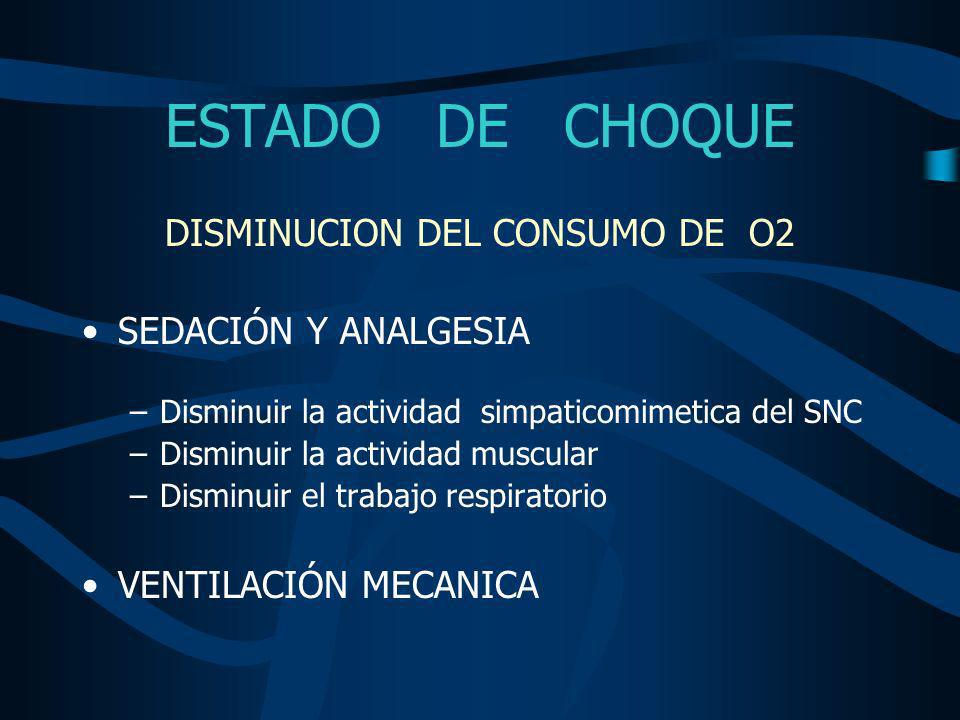 DISMINUCION DEL CONSUMO DE O2