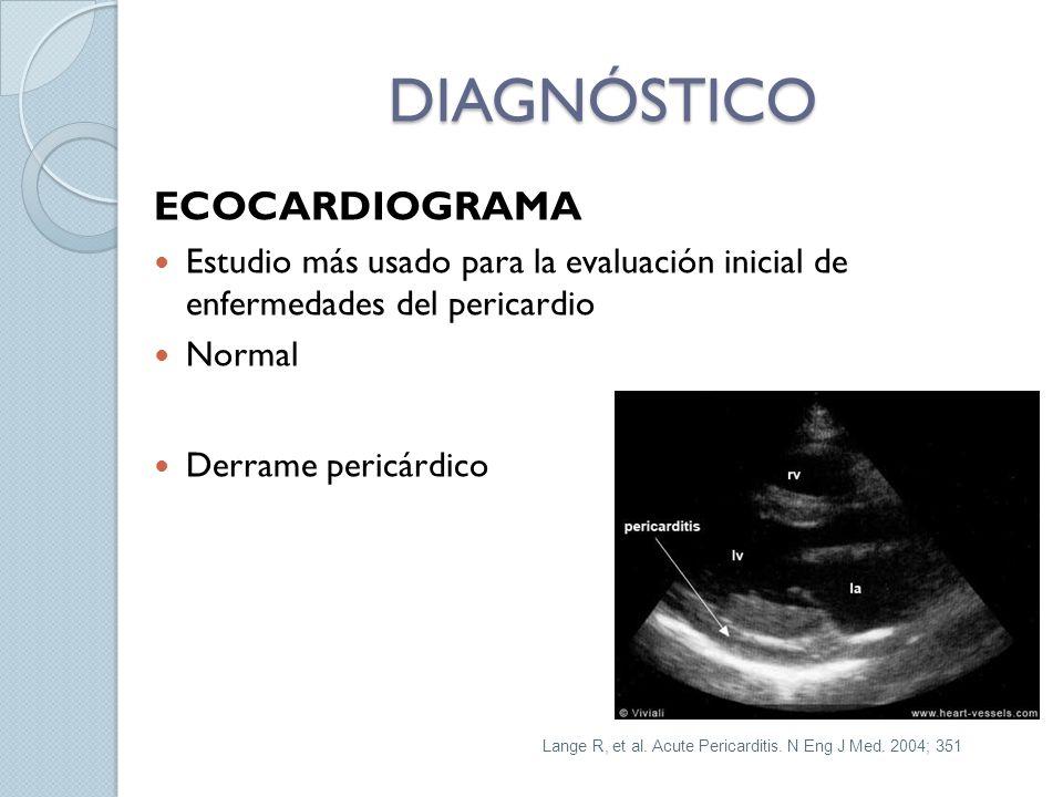 DIAGNÓSTICO ECOCARDIOGRAMA