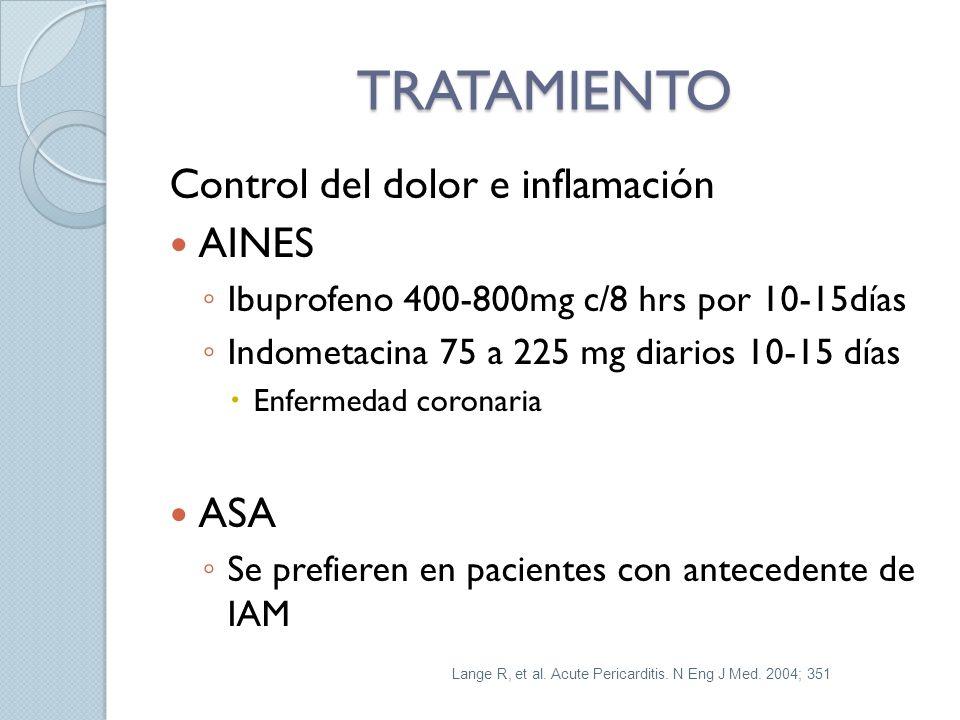 TRATAMIENTO Control del dolor e inflamación AINES ASA