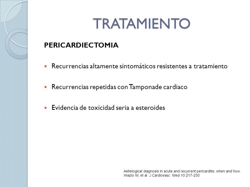 TRATAMIENTO PERICARDIECTOMIA