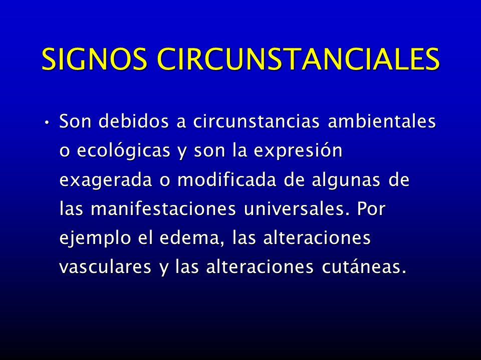 SIGNOS CIRCUNSTANCIALES