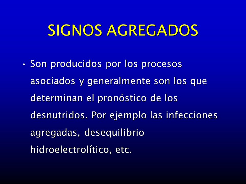 SIGNOS AGREGADOS