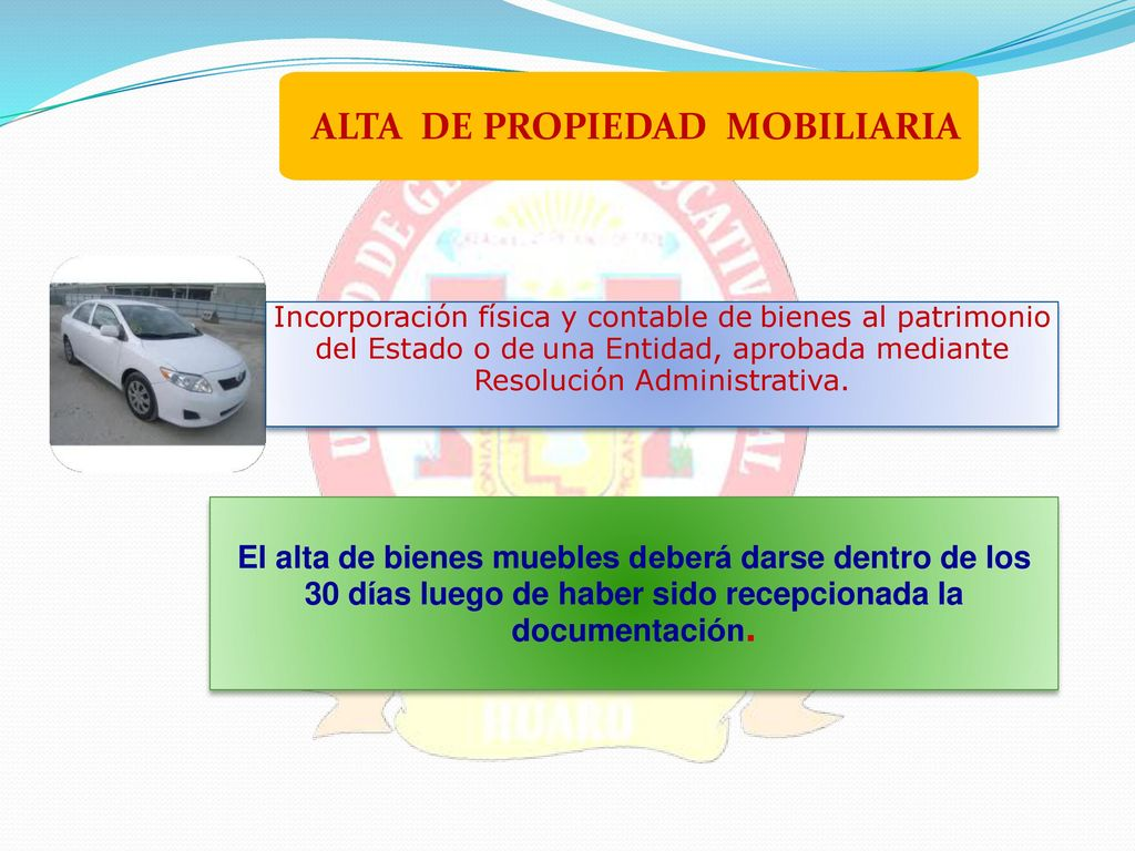 Gesti N De Los Bienes Muebles De Propiedad Estatal Ppt Descargar # Registro Bienes Muebles Veh?culos