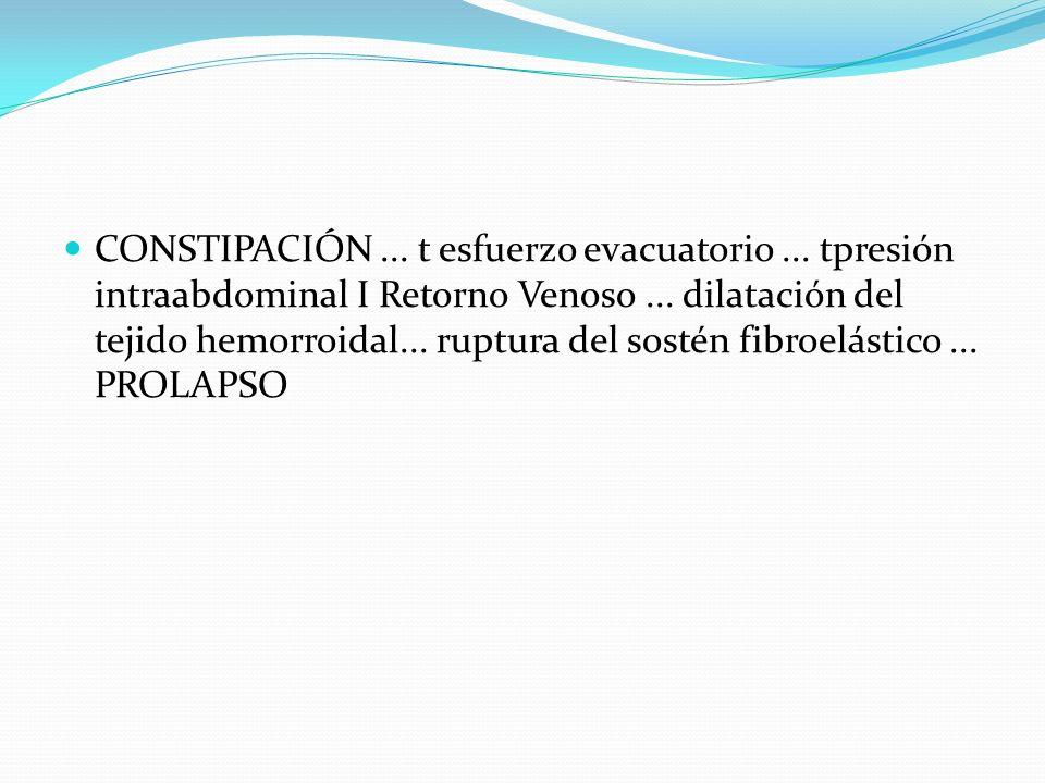 CONSTIPACIÓN. t esfuerzo evacuatorio