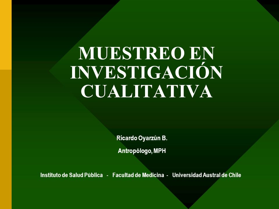 MUESTREO EN INVESTIGACIÓN CUALITATIVA