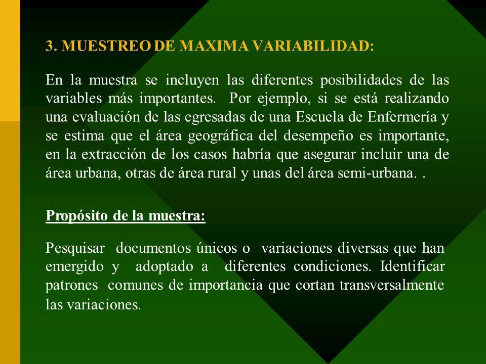 3. MUESTREO DE MAXIMA VARIABILIDAD: