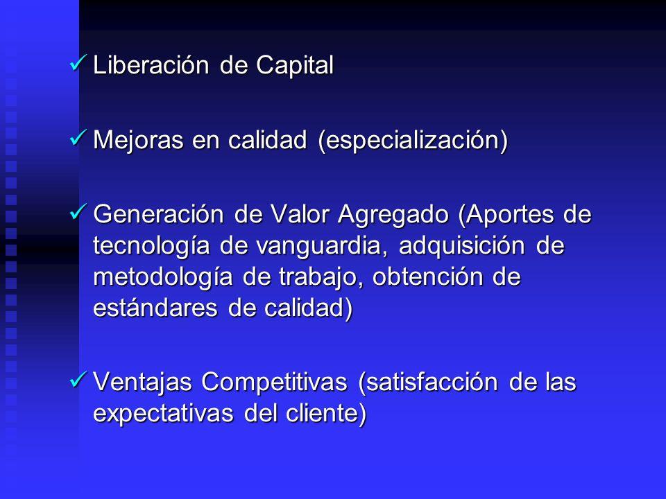 Liberación de Capital Mejoras en calidad (especialización)