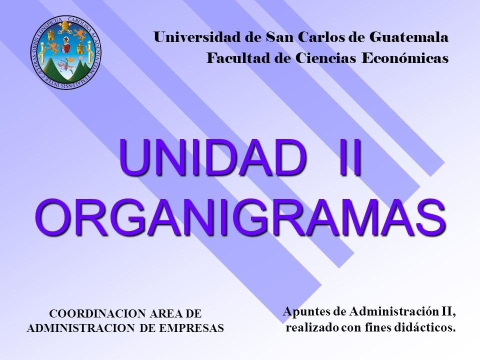 UNIDAD II ORGANIGRAMAS