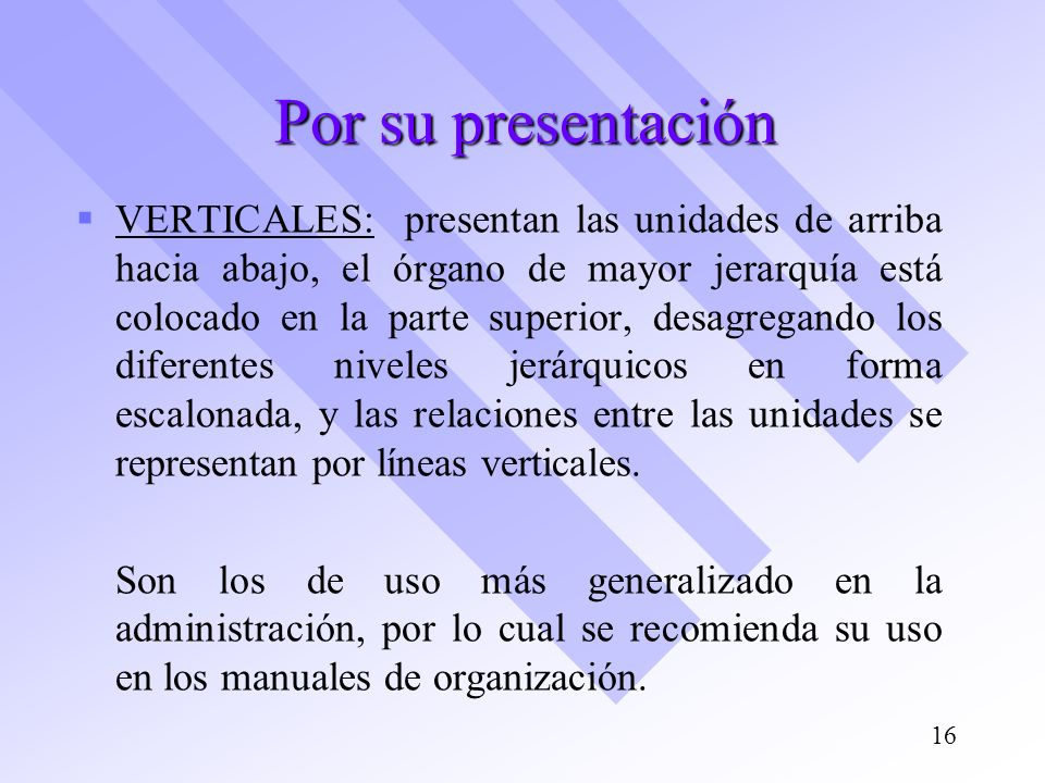 Por su presentación