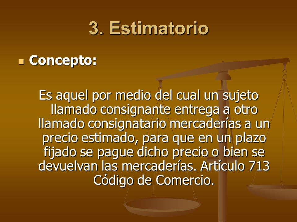 3. Estimatorio Concepto: