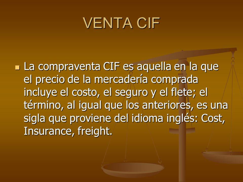 VENTA CIF