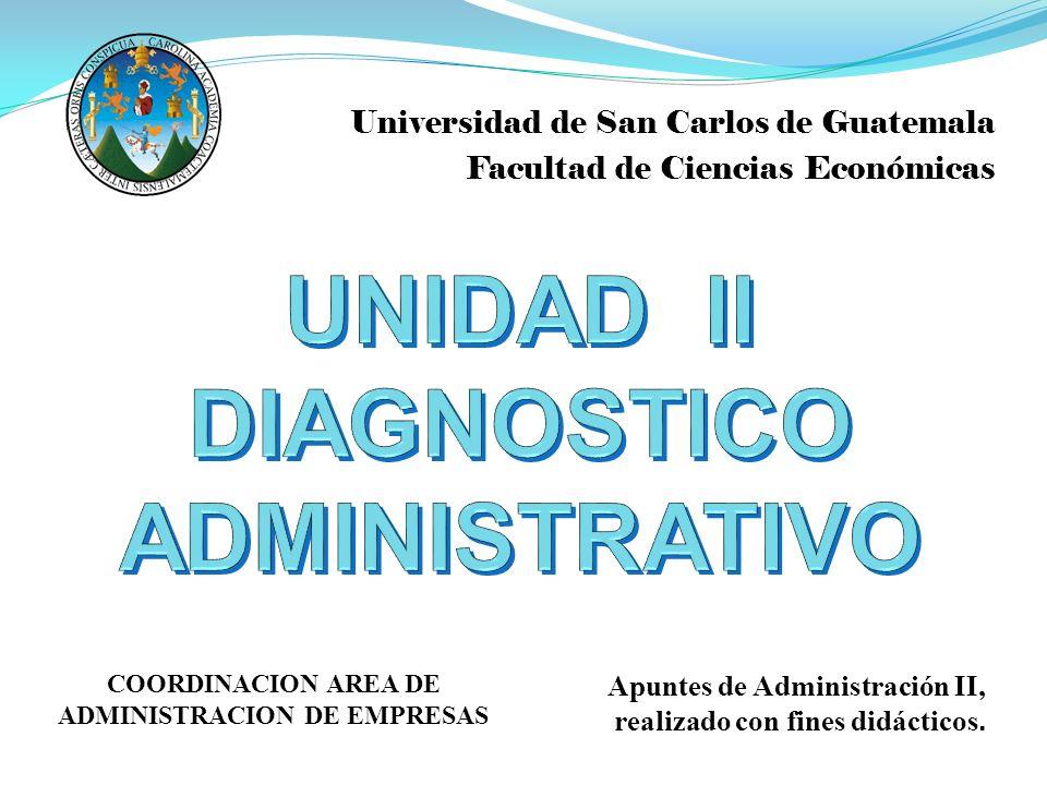 UNIDAD II DIAGNOSTICO ADMINISTRATIVO