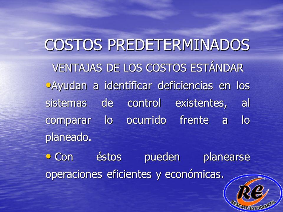 COSTOS PREDETERMINADOS