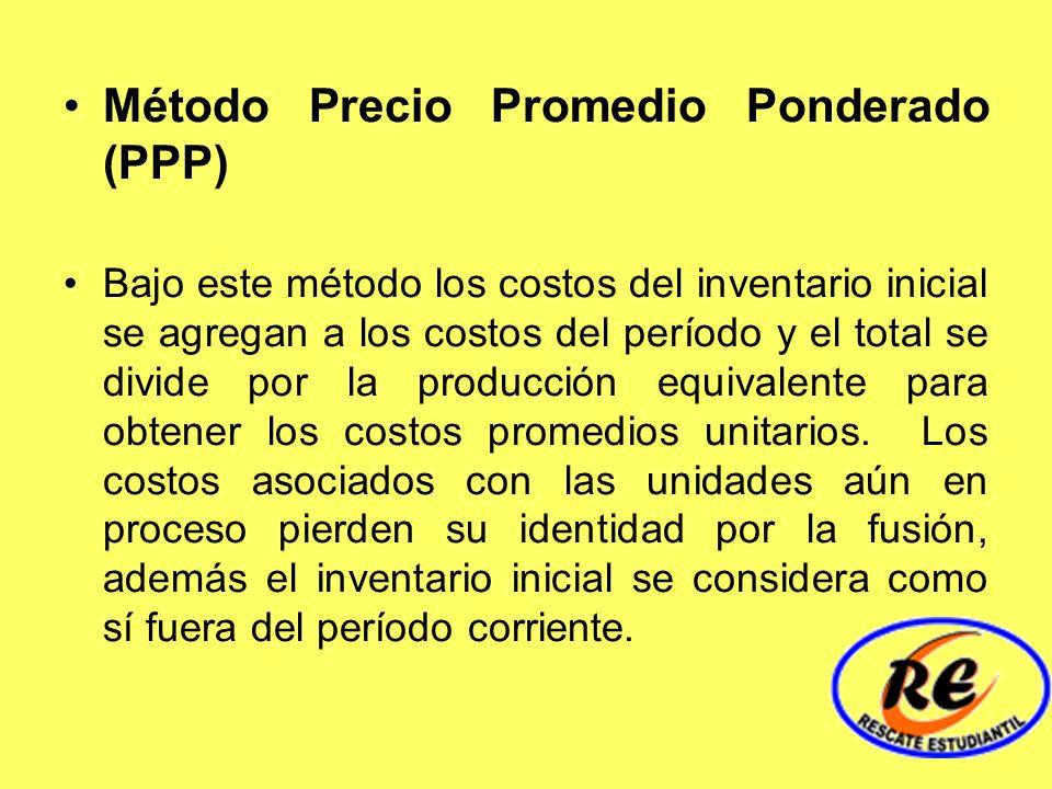 Método Precio Promedio Ponderado (PPP)