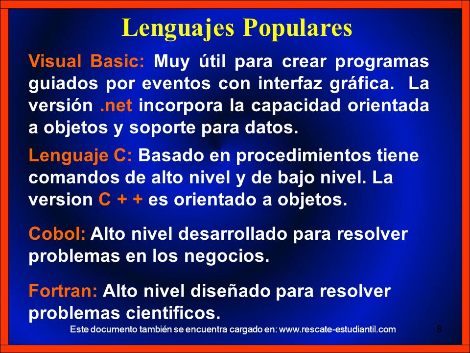 Lenguajes Populares