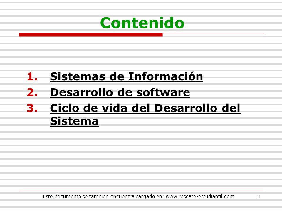 Contenido Sistemas de Información Desarrollo de software