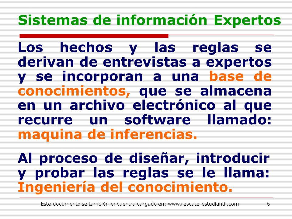 Sistemas de información Expertos