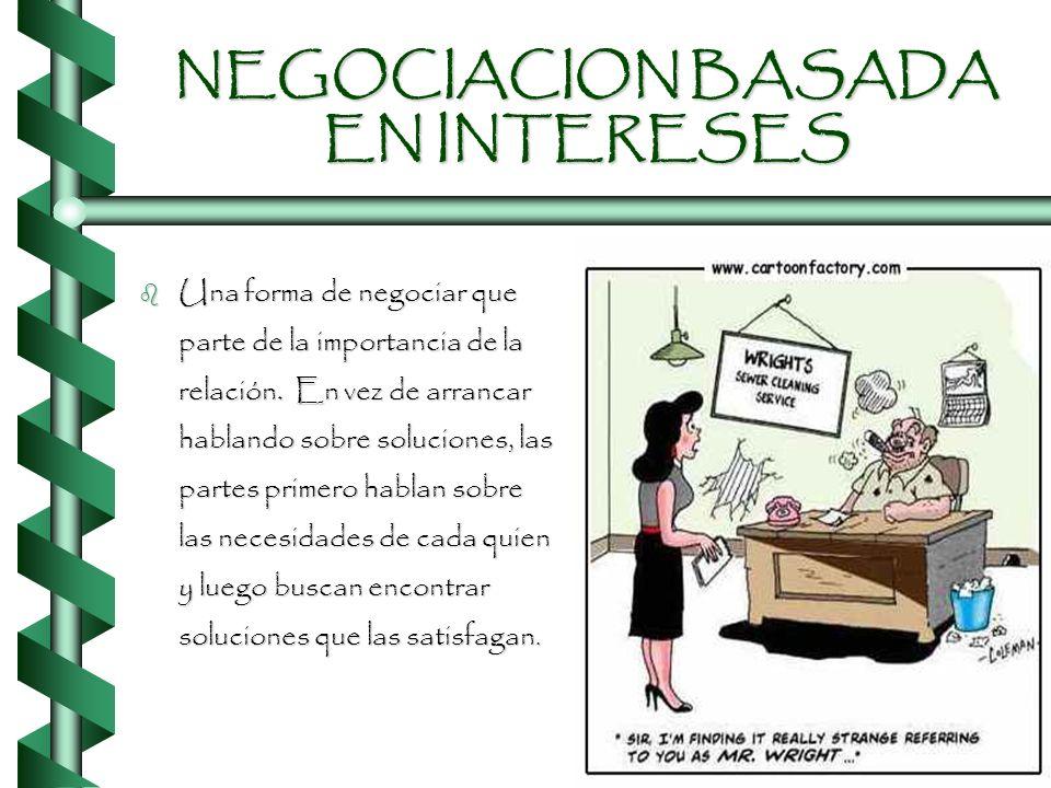 NEGOCIACION BASADA EN INTERESES