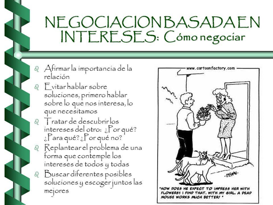NEGOCIACION BASADA EN INTERESES: Cómo negociar