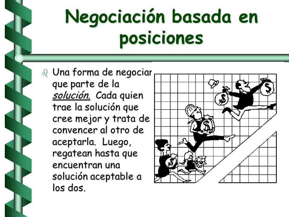 Negociación basada en posiciones