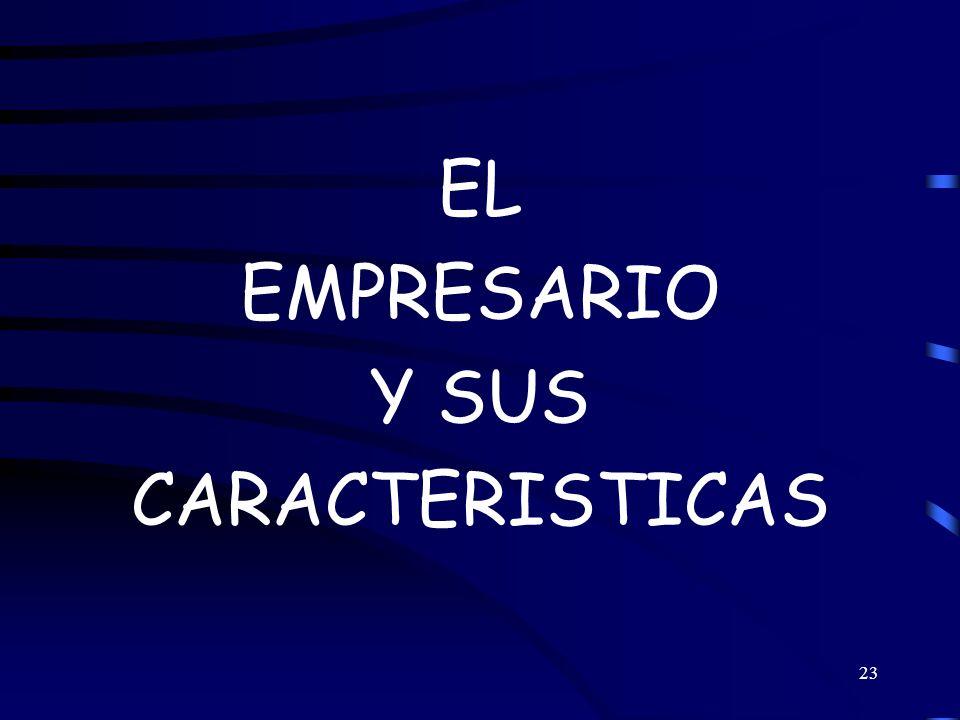 EL EMPRESARIO Y SUS CARACTERISTICAS
