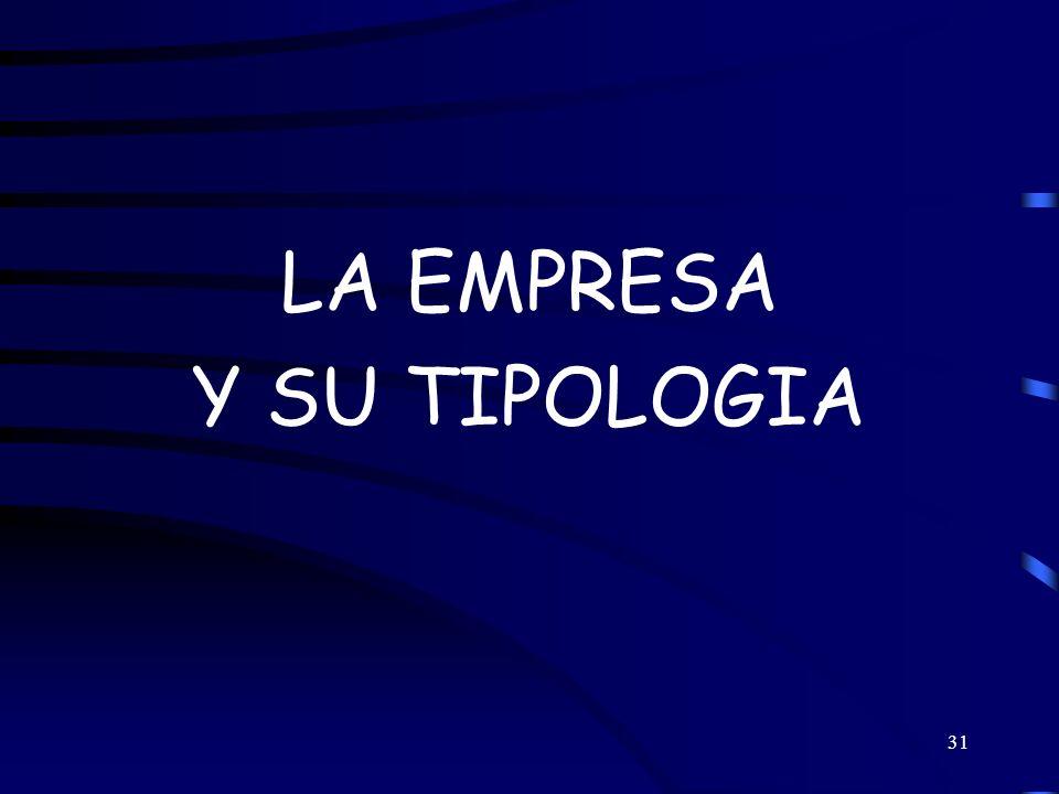 LA EMPRESA Y SU TIPOLOGIA