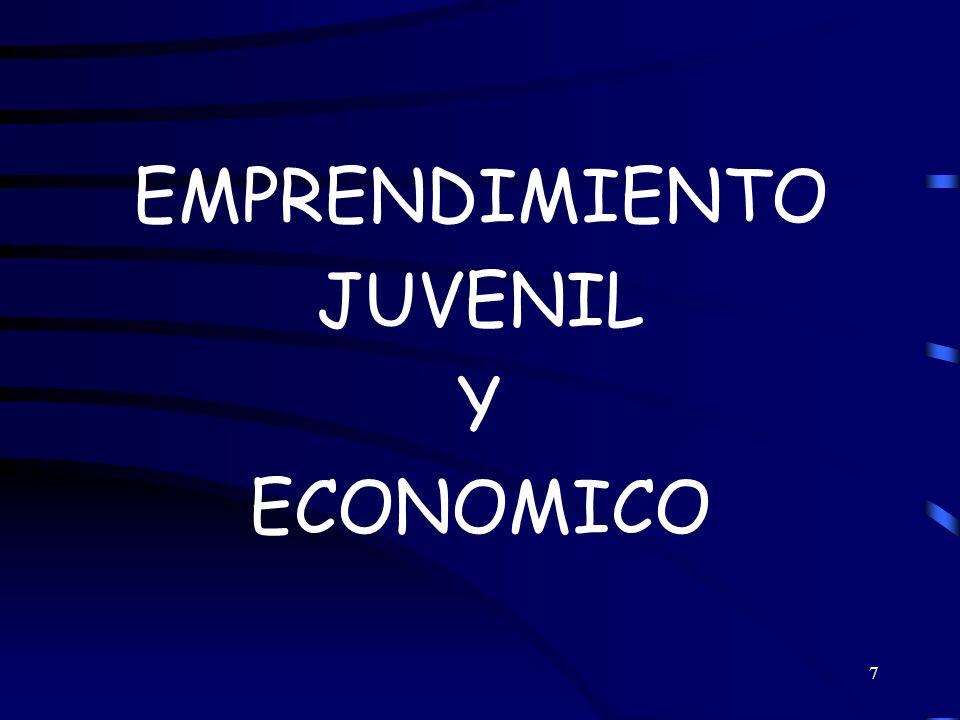 EMPRENDIMIENTO JUVENIL Y ECONOMICO
