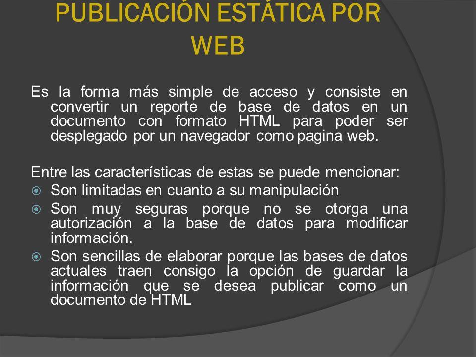 PUBLICACIÓN ESTÁTICA POR WEB