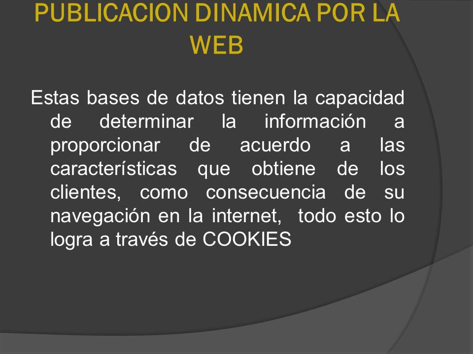 PUBLICACION DINAMICA POR LA WEB