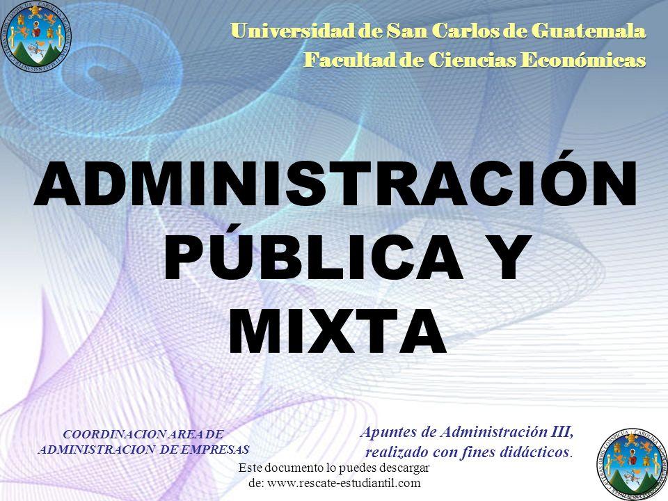 ADMINISTRACIÓN PÚBLICA Y MIXTA