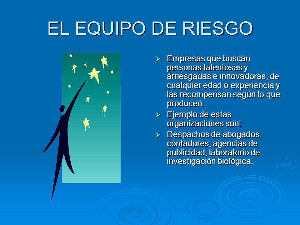 EL EQUIPO DE RIESGO
