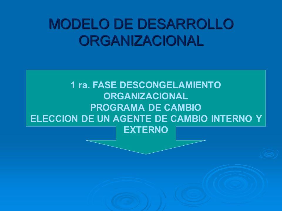 MODELO DE DESARROLLO ORGANIZACIONAL