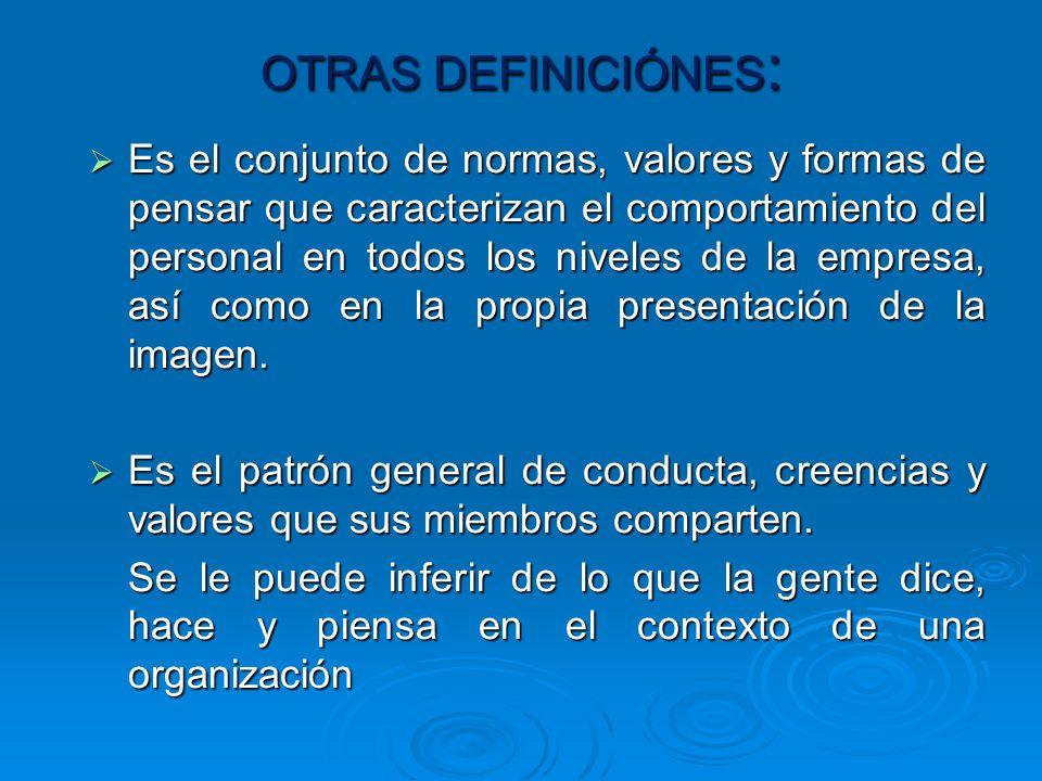 OTRAS DEFINICIÓNES: