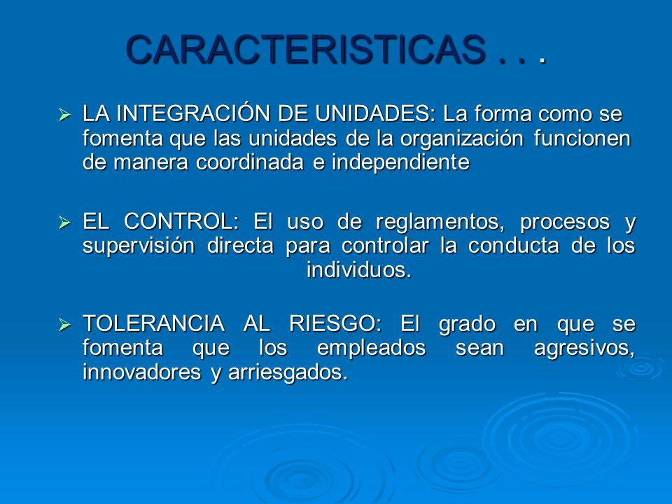 CARACTERISTICAS . . .