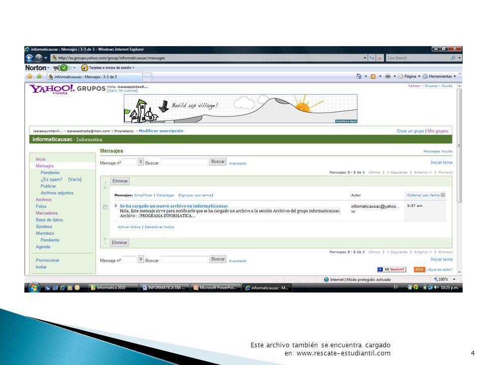 Este archivo también se encuentra cargado en: www. rescate-estudiantil