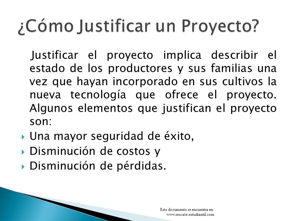 ¿Cómo Justificar un Proyecto