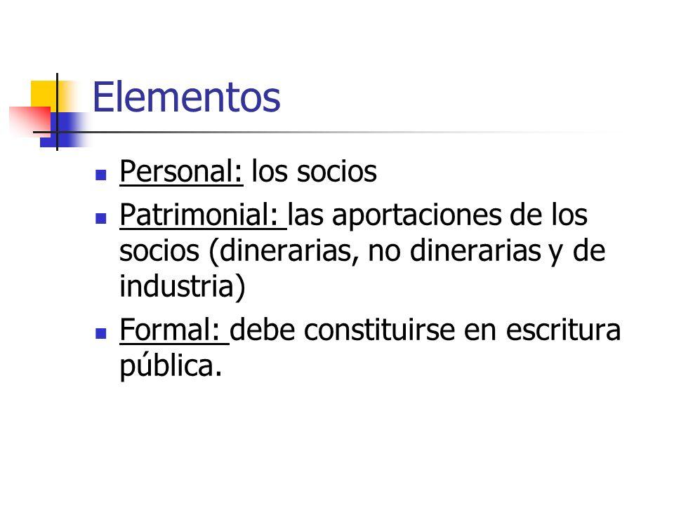 Elementos Personal: los socios