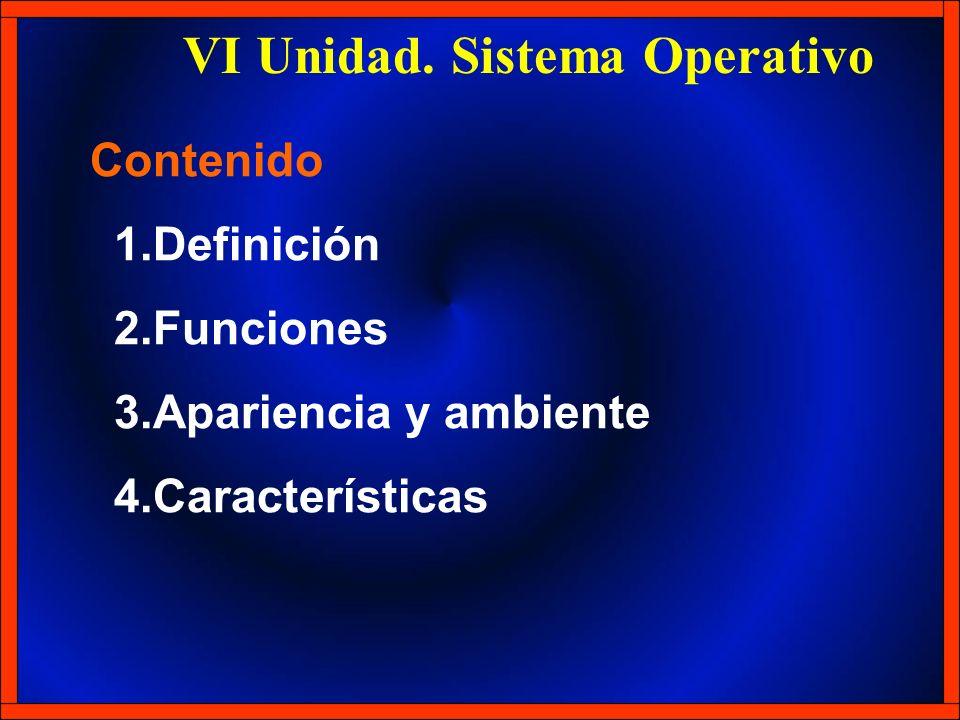 VI Unidad. Sistema Operativo