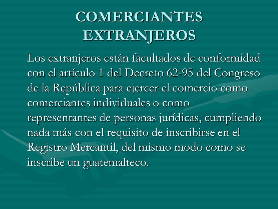 COMERCIANTES EXTRANJEROS