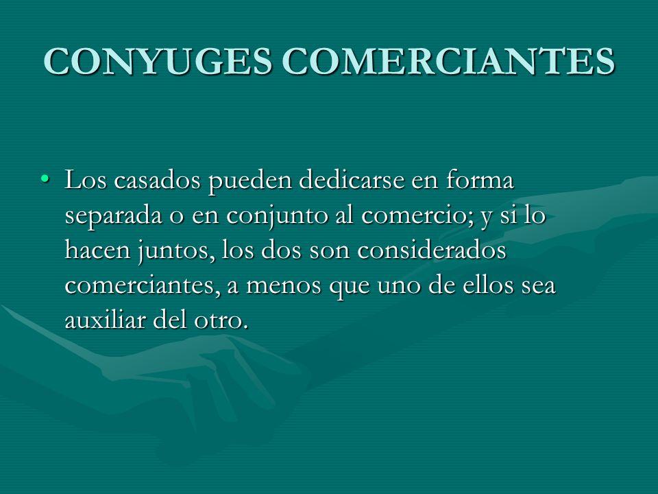CONYUGES COMERCIANTES