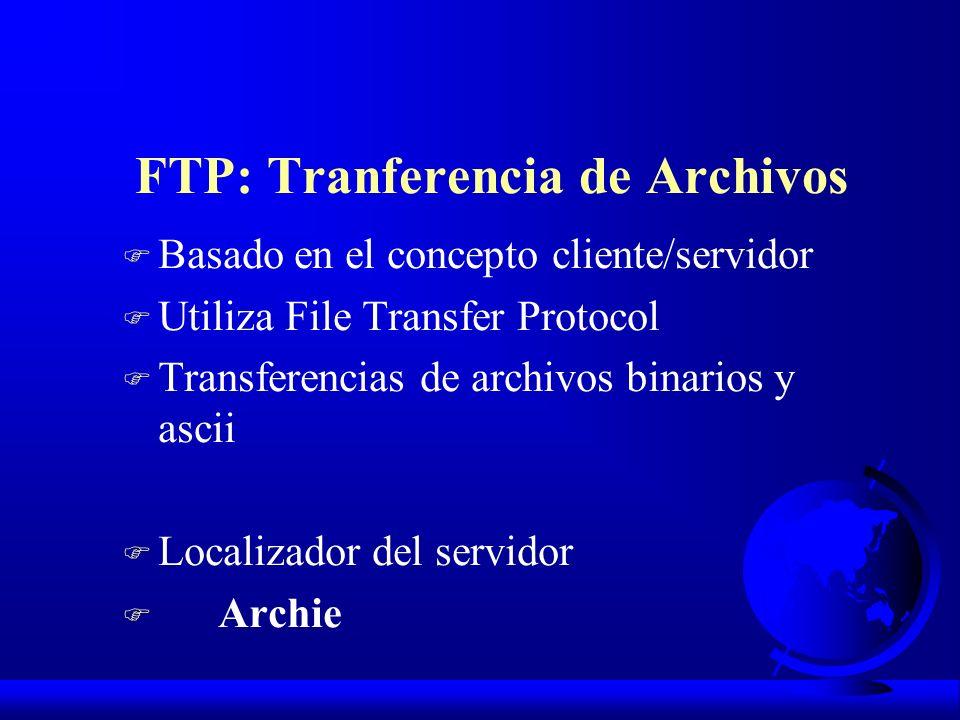 FTP: Tranferencia de Archivos