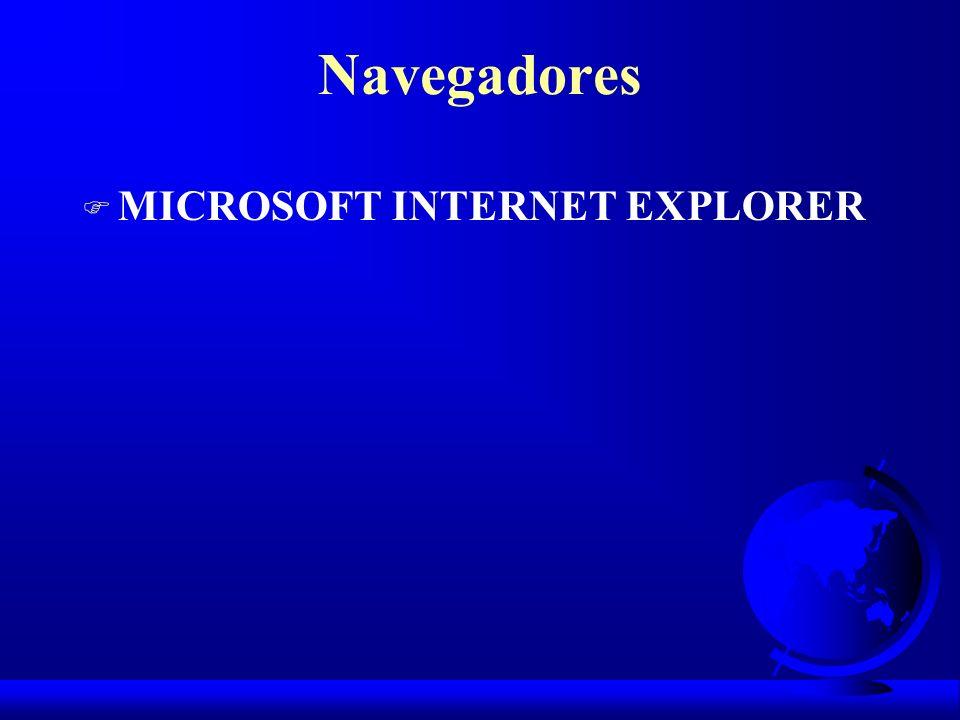 Navegadores MICROSOFT INTERNET EXPLORER