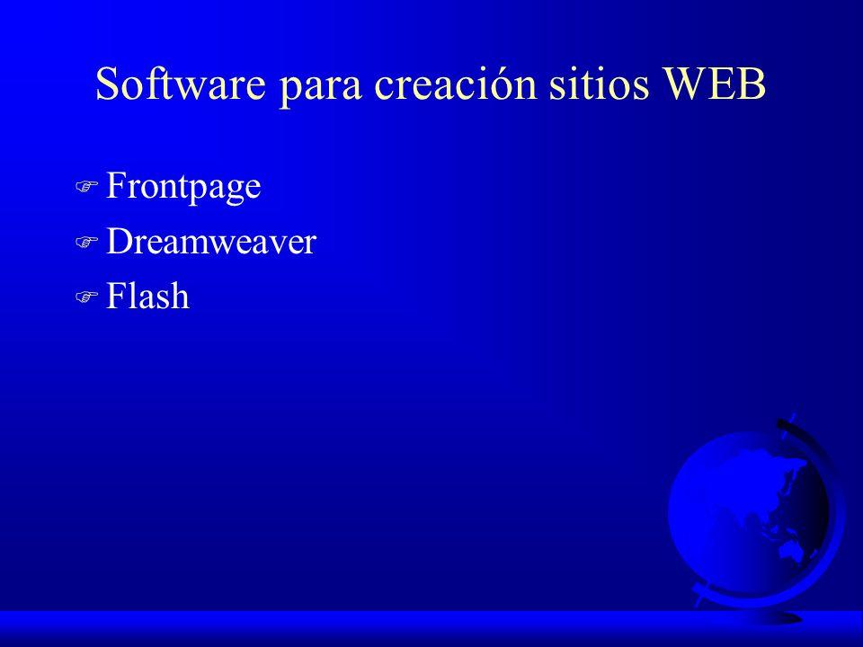 Software para creación sitios WEB