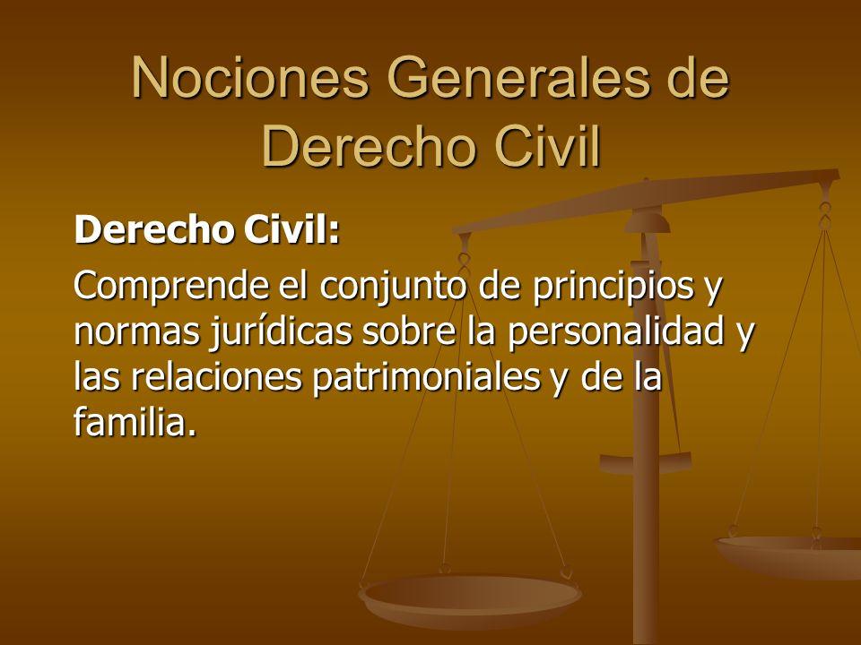 Nociones Generales de Derecho Civil